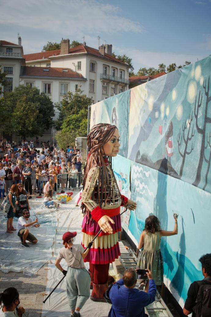 ليون- جدارية أمل