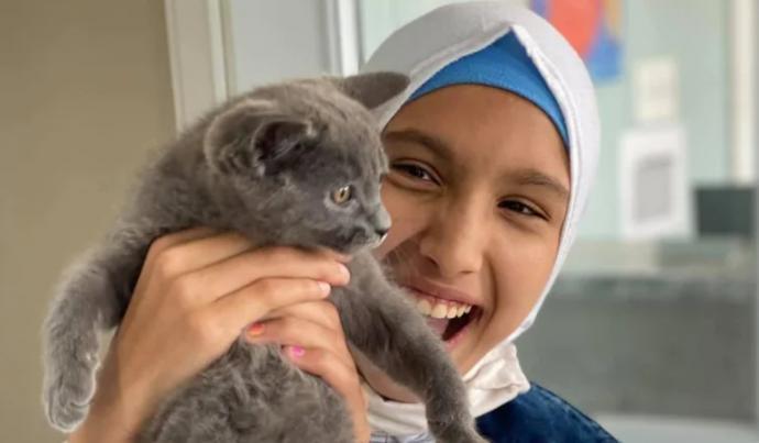 راما مع القطة